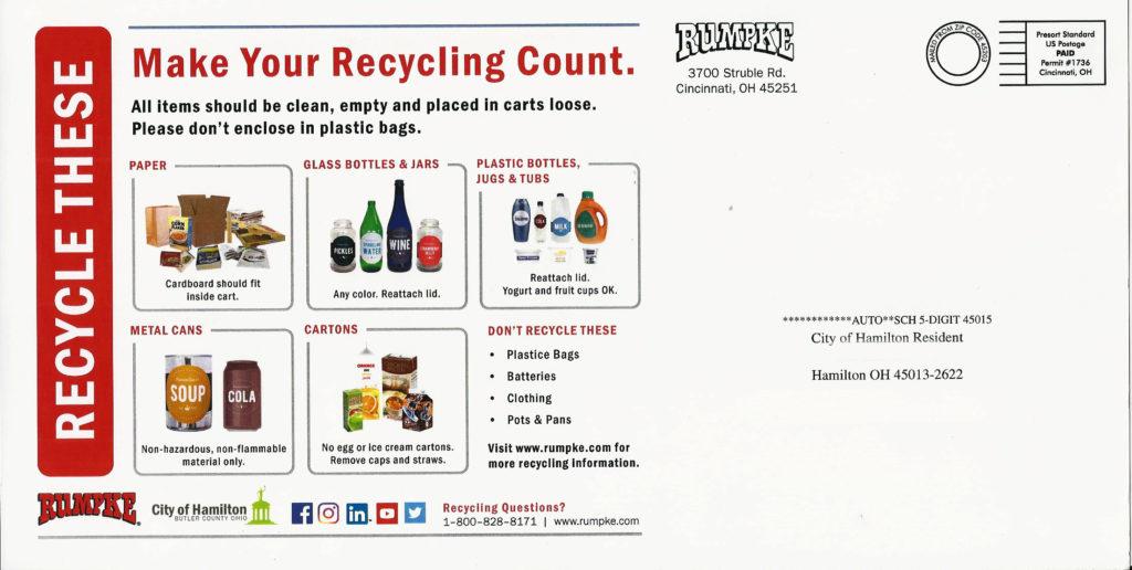 2021 Hamilton, Ohio Recycling Guide
